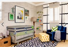 blue and yellow nursery contemporary