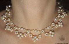 Wedding collar N484 by Fleur-de-Irk.deviantart.com on @deviantART Beautiful and looks easy. JH