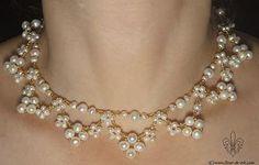 Wedding collar N484 by Fleur-de-Irk.deviantart.com on @deviantART Beautiful and looks easy. JH