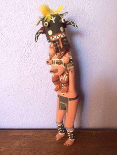 ON HOLD Kachina Mudhead katsina Hopi Native American Indian doll Tuhavi Koyemsi Nick Brokeshoulder art carving painted sculpture Native made