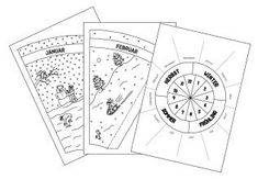 jahreskreis pdf | jahreskreis, vorlagen zum ausmalen und jahreszeiten kindergarten