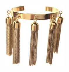 Multi Tassel Bracelet in Gold
