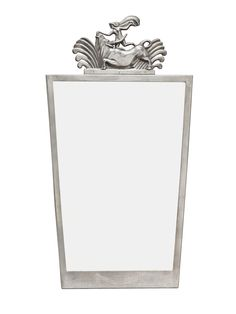 A SWEDISH GRACE PEWTER MIRROR, DATED 1930.