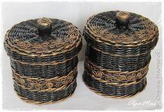 Поделка изделие Аппликация из скрученных жгутиков Декупаж Плетение Плетение из бумажной лозы Салфетки Трубочки бумажные фото 31
