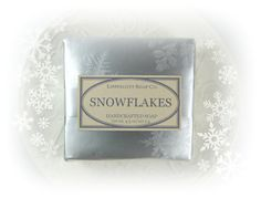 Our Snowflakes cold process soap has a fragrance thats as fresh as the new fallen snow. Eucalyptus and spearmint blend with bottom notes of