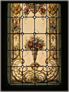 Gorgeous stained glass I would love in my front door!