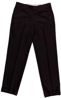 Kiton Wool Flat Front Trousers Mens Dress Pants, Harem Pants, Trousers, Flats, Wool, Stylish, Fashion, Trouser Pants, Loafers & Slip Ons