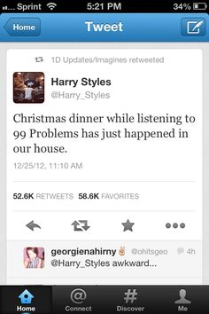 I love this kid.... But it sounds oddly familiar to a Christmas dinner at my house...
