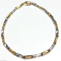 BRACCIALE PER UOMO ORO GIALLO E BIANCO  18 KT (750/000) #jewels #jewellery #gioielleriacentrooro #gioielli #bracelet #bracciale #uomo #gold18k