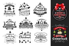 Christmas & New Year Badges & Label by Raftel on @creativemarket
