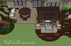 Outdoor Living Space Ideas - Patio Designs & Ideas: this is exactly what we want...pergola & outdoor fireplace!