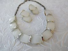 Vintage Signed Lisner Moonglow Necklace Earrings by STLvintage on Etsy