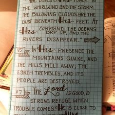 He calms the storms: Creative note taking for the Bible journaler