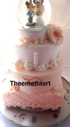 Wedding cake disney style  Cake by Theemettaart