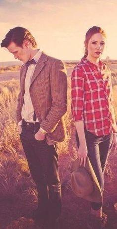 Smith and Karen Gillan as The Doctor and Amy Pond --- 'Doctor Who'Matt Smith and Karen Gillan as The Doctor and Amy Pond --- 'Doctor Who' Doctor Who, I Am The Doctor, Eleventh Doctor, Matt Smith, Karen Smith, Karen Gillan, Dalek, Torchwood, David Tennant