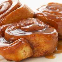 Cinnamon Rolls / Caramel Rolls Recipe from Grandma Jean and Cathy Gabrian Carmel Rolls, Pecan Sticky Buns, Sticky Rolls, Frozen Bread Dough, Bun Recipe, Pastry Recipe, Dessert Recipes, Desserts, Brunch Recipes
