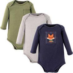 Hudson Baby Newborn Baby Boys Long Sleeve Bodysuit 3 Pack, Newborn Boy's, Size: 9 - 12 Months