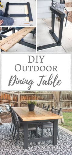 Diy Outdoor Table, Diy Dining Table, Diy Outdoor Furniture, Diy Furniture Projects, Patio Dining, Furniture Makeover, Home Projects, Outdoor Decor, Diy Patio Tables