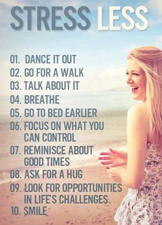 Simple ways to stress less.