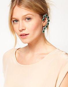 Enlarge ASOS Stone Daisy Ear Cuff With Swarovski Stones