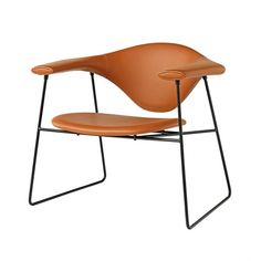 GamFratesi; Leather and Powder-Coated Metal 'Masculo' Chair for GUBI,  2011.