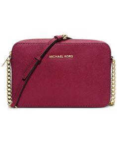 a5ee3ca3a4cb57 Michael Kors Jet Set Travel Large Crossbody & Reviews - Handbags &  Accessories - Macy's