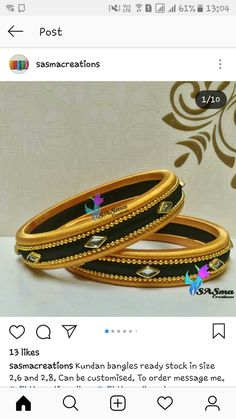 Silk Thread Bangles Design, Silk Thread Necklace, Thread Jewellery, Beaded Necklace, Kundan Bangles, Silk Bangles, Bridal Bangles, African Bracelets, Black Bracelets