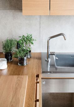 Design by Jari Laiho, cabinets by Kitzen. Cabinets, Sink, Touch, Design, Home Decor, Armoires, Sink Tops, Vessel Sink, Decoration Home
