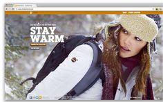 top website design trends 2012 - large background images