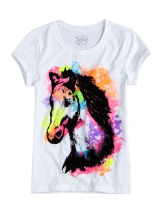 Watercolor Horse Tee | Animals | Graphic Tees | Shop Justice