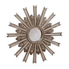 """20"""" Silver Starburst Mirror - Ethan Allen US"""