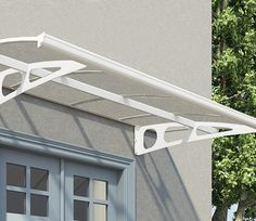 The Palram Bordeaux 2.2m Door Canopy provides shade and shelter for French windows and back doors.