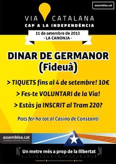 DINAR DE GERMANOR - Tiquets la Constantí