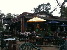 Cedar Creek in the Heights/Houston. One of my favorite places to go with the bf or the besties on a weekend night or Sunday for brunch and their wonderful frozen mimosas!