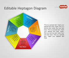 Editable Heptagon Diagram for PowerPoint is another awesome diagram for PowerPoint presentations with an heptagon shape in Microsoft PowerPoint slides that you can download and use in your own presentations #shapes #heptagon #powerpoint