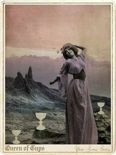 The Queen of Cups from the Moonchild Tarot