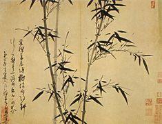Album of Bamboo in 4 Seasons, Leaf 1, Wu Zhen (1280-1354)