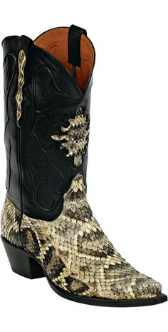 Snake/Snakeskin Boots Style 610 Custom-Made by Black Jack Boots