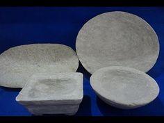 Vasos de papel e cimento