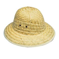 Take this safari inspired woven pith helmet on your next adventure. This hat is perfect for zoo, wild animal, or African safari theme parties and events.