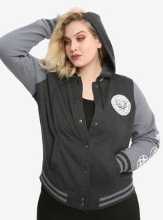 8b8538919dd Suit up and get ready to go hunting in this varsity jacket from Supernatural.  The