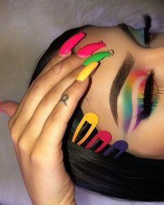 Just Love Make-up …. Finden Sie Beauty-Tipps, Make-up-Workshops - Tatowierungen Glam Makeup, Baddie Makeup, Cute Makeup, Gorgeous Makeup, Pretty Makeup, Makeup Eye Looks, Eye Makeup Art, Crazy Makeup, Rainbow Eye Makeup