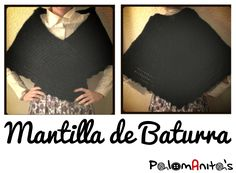DIY: Mantilla de Ganchillo Crochet Shawl, Free Crochet, Knit Crochet, Patron Crochet, Crochet Patterns, T Shirts For Women, Crop Tops, Knitting, Diy
