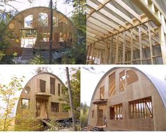 Some people may rarely hear about Quonset Hut Homes. What is actually quonset hut? Quonset hut is a structure with a semicircular shape and it is completed with long steel which is self-supporting and. Metal Building Kits, Metal Building Homes, Building A House, Hut House, Tiny House, Quonset Hut Homes, Arched Cabin, Metal Barn Homes, Steel House