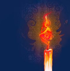 Candle Sprite by Alicia Chan O Ritual, Candle Art, Flame Princess, Crescent City, Adventure Time Art, Illustrations, Cute Illustration, Looks Cool, Beautiful Artwork