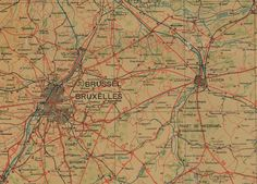 Carte routiėre de la Belgique, Touring Club de la Belgique, 1/200.000, blad I, 1931