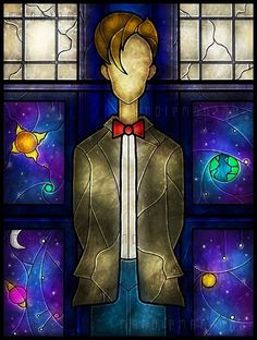Beautiful 11 stained glass art! I'm so loving this!  Oh I love the Dr. I'm a Whovian at heart