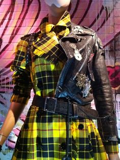 Jean Paul Gaultier punk plaid dress