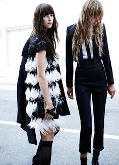 MANUELA FREY & STEPHANIE JOY FIELD / W MAGAZINE NOVEMBER 2014 PHOTOGRAPHED by CLAUDIA KNOEPFEL +...