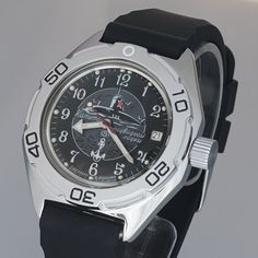 Vostok Amphibian Automatic Mens WristWatch Selfwinding Military Diver Amphibia Ministry Case Wrist Watch #MenWatchesCollection